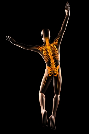 jump man radiography on black Stock Photo - 18352891