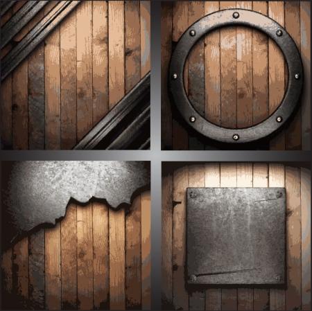 Vector metal background set Stock Vector - 18353115