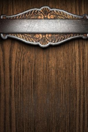 frame wood: metal on wall