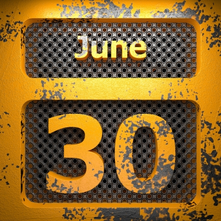 june 30 of painted steel  on perforated wall