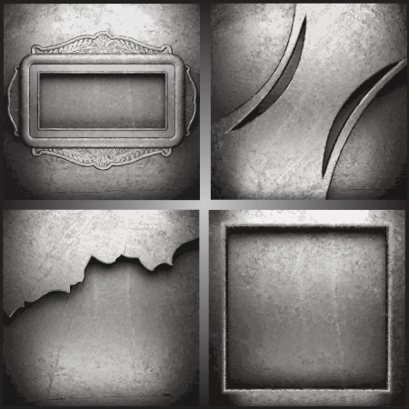 Vector metal background set Vector
