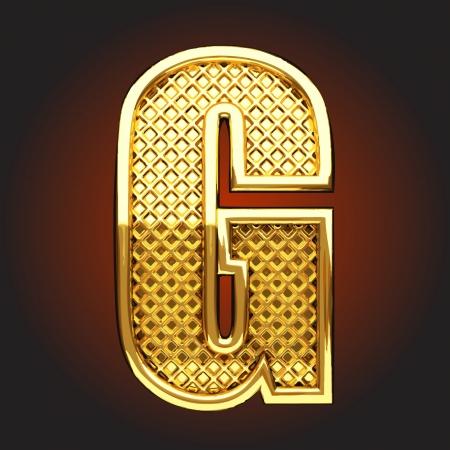 g alphabet: Vector golden figure