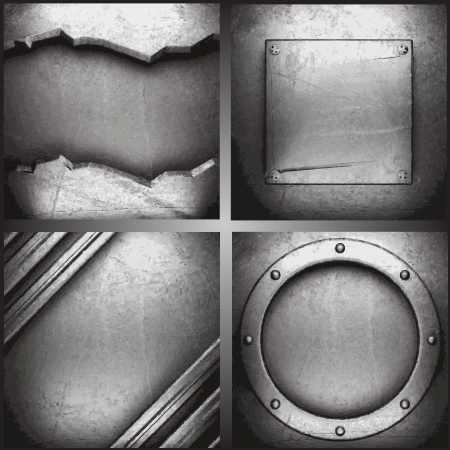 steel sheet: metal background set