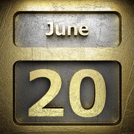 june 20 golden sign on silver