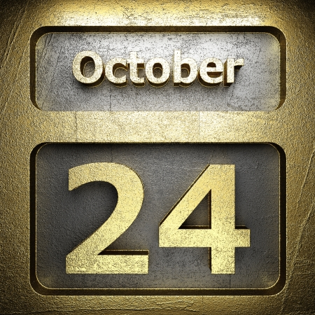 24 month old: october 24 golden sign on silver