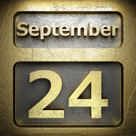 24 month old: september 24 golden sign on silver