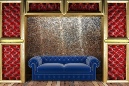 golden stage with sofa photo