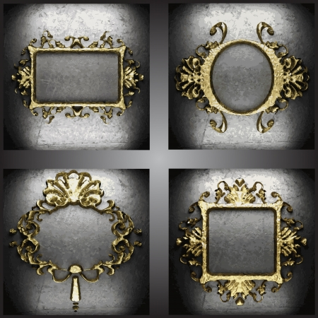 plaque: golden frames set