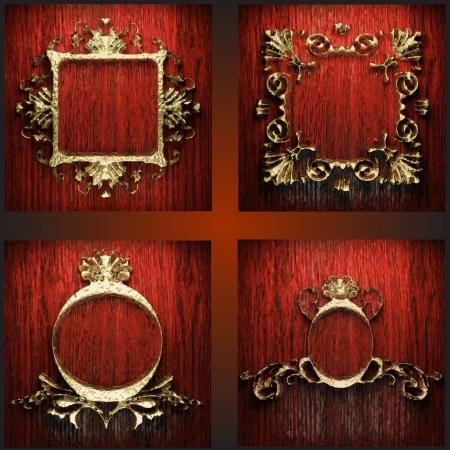 golden frames set Vector