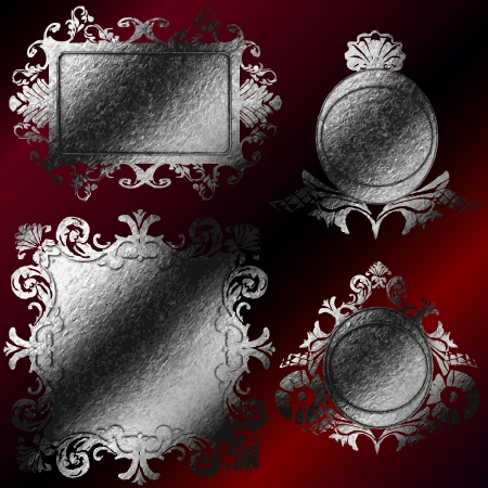 vector silver frames set Vector