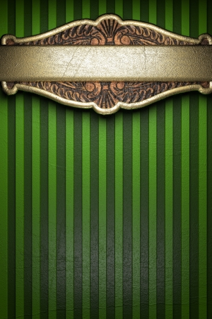 gold on green background photo