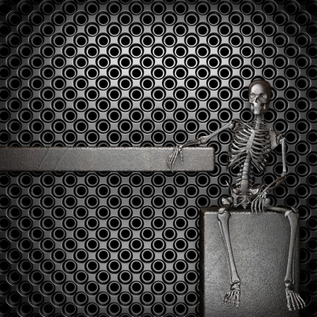 Metal skeleton Stock Photo - 20141673