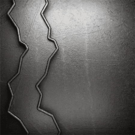 metal on wall background Stock Vector - 20141950