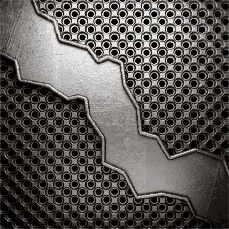 metal on wall background Stock Vector - 20141889