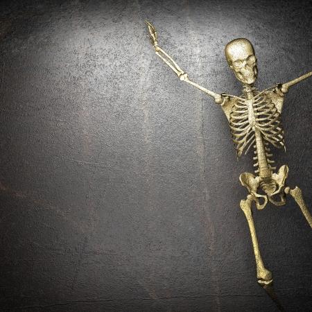 Golden skeleton Stock Photo - 20279380