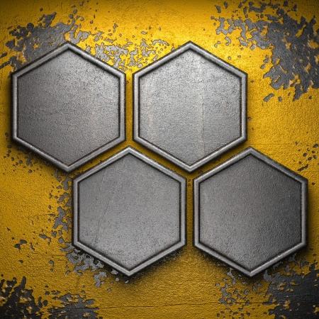 metal frame: metal background