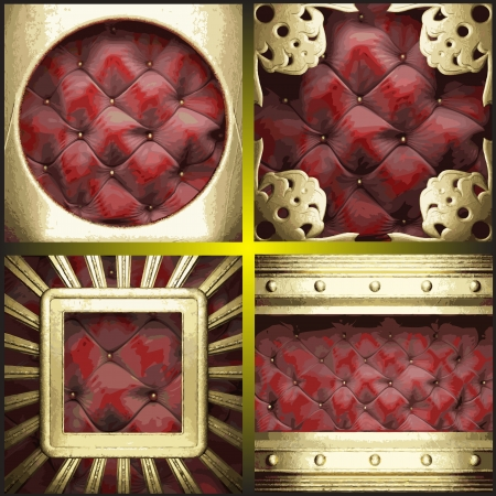 chester: gold on fabric background set