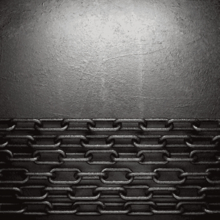 ironworks: metal on wall background Illustration