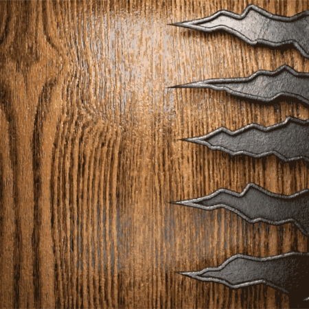 metal and wood background Stock Vector - 20565277