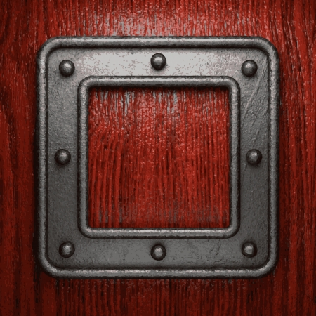 metal and wood background Illustration