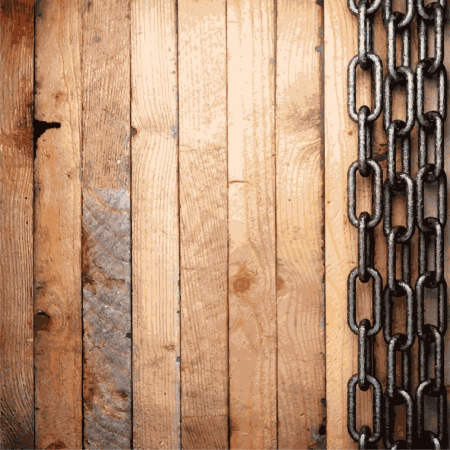weathered wood: metal and wood background Illustration