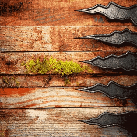metal and wood background Stock Vector - 20586834