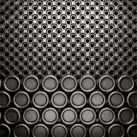 metal on wall background Stock Vector - 20600678