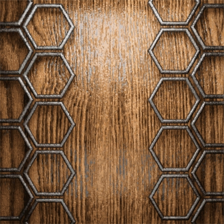 metal and wood background Stock Vector - 20600727