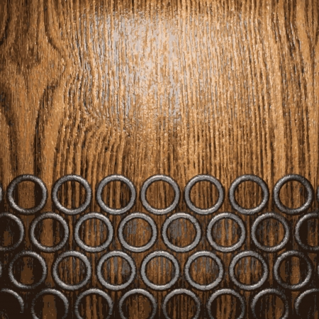 metal and wood background Stock Vector - 20600668