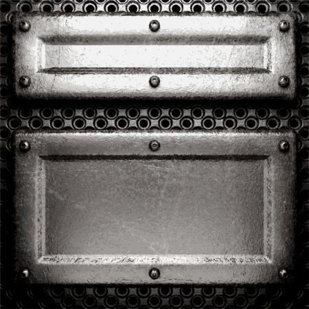 metal background Stock Vector - 20890455