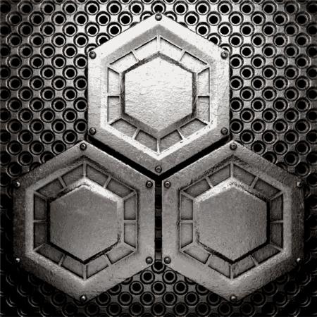 metal background Stock Vector - 20924583