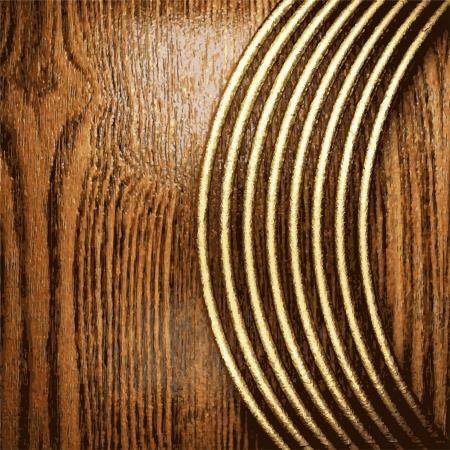 golden and wood  background Illustration