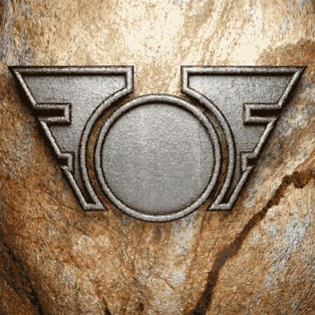 metallo e pietra di sfondo Vettoriali