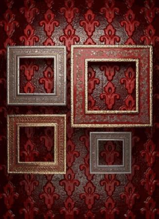 frames on wall Stock Vector - 21985301