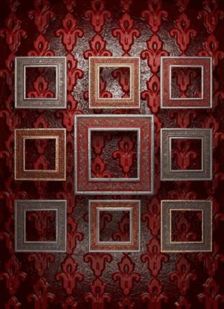 frames on wall Stock Vector - 21985306