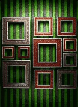frames on wall Stock Vector - 21985420