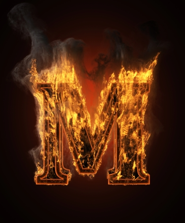burning figure with smoke photo