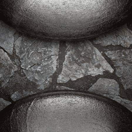 metal and stone background Illustration