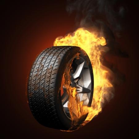 road rage: burning wheel