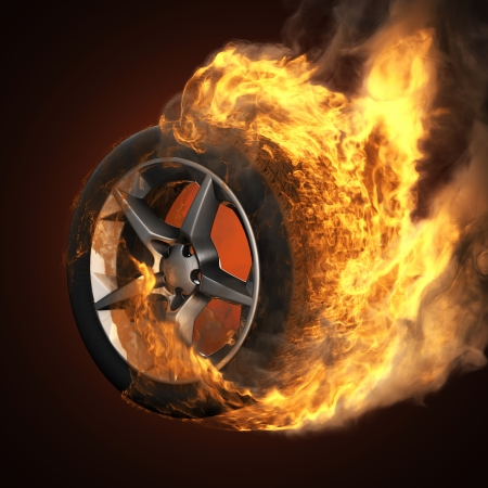 burning wheel photo