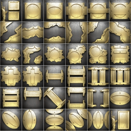 gold and silver background set photo