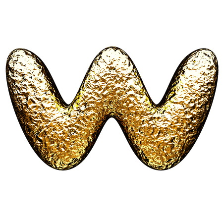 isolated golden letter photo