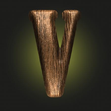 wooden figure: Vector wooden figure