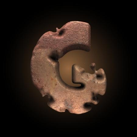 typographer: Vector old metal letter