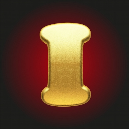 vector golden letter Vector