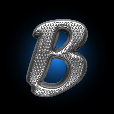 b cell: Vector Metal figure