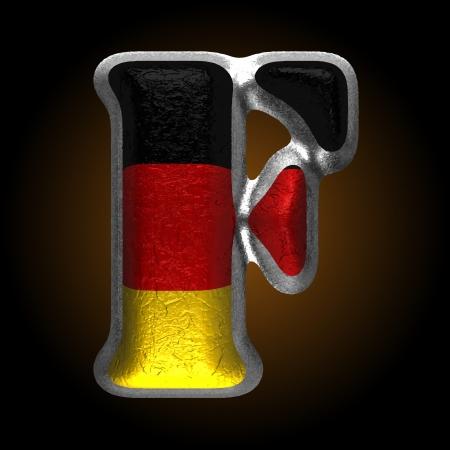 typographer: Vector Germany metal figure Illustration