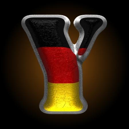 Vector Germany metal figure Illustration
