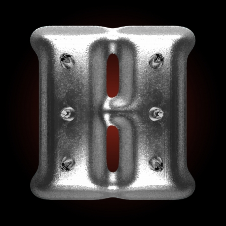 metal construction: vector metal construction figure