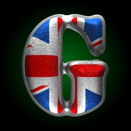 typographer: Vector Great Britain metal figure Illustration